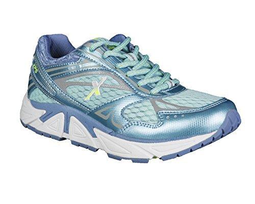 Xelero Genesis Women's Comfort Therapeutic Extra Depth Sneaker Shoe: Ocean/Lilac 9.5 Medium (B) Lace