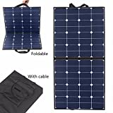 Solar Panel, MOHOO 100W 100Watt Bendable Foldable Thin Lightweight Solar Panel Battery Charger with MC4 Connector Charging Sunpower Cells for RV, Boat, Cabin, Off-Grid