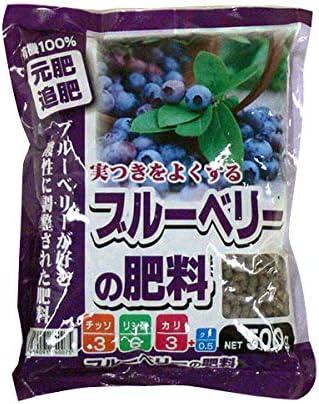 クド成分により光合成が活発、おいしい実が収穫できます。 あかぎ園芸 ブルーベリーの肥料 500g 30袋 (4939091740075) 〈簡易梱包