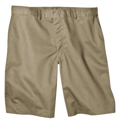 Flat Front Khaki Short (Dickies Young Men's Flat Front Short, Khaki, 34)