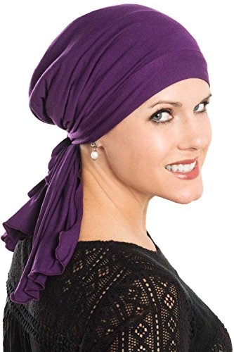 Cardani So Simple Scarf - Pre Tied Head Scarf for Women in Soft Bamboo - Cancer & Chemo Patients Luxury Bamboo - Paisley Black/White