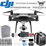 DJI Phantom 4 PRO+ Plus Quadcopter Drone w/Deluxe Controller Obsidian Bundle includes Drone, Propeller Guards, Spare Battery, Hardshell Backpack, Bag, VR Viewer and 32GB MicroSD Memory Card