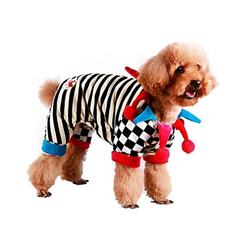 Dog Clown Costume Halloween Pet Circus Clown Costumes