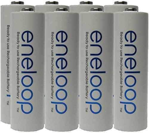 NEW Panasonic Eneloop 4th generation 8 Pack AA NiMH Pre-Charged Rechargeable Batteries -FREE BATTERY HOLDER- Rechargeable 2100 times replaces eneloop (3rd gen) AA 1800 Cycle, Ni-MH Pre-Charged Recharg...