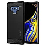Spigen Galaxy Note 9 Case Rugged Armor - Resilient Shock Absorption and Carbon Fiber Design for Samsung Galaxy Note 9 (2018) - Matte Black
