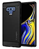 #3: Spigen Rugged Armor Galaxy Note 9 Case with Resilient Shock Absorption and Carbon Fiber Design for Galaxy Note 9 (2018) - Matte Black