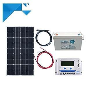 Kit Solar 150W Flexible 12V PWM EPEVER Autónomo con batería 1200W
