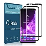 TOCOL Glass Screen Protector for Samsung Galaxy S9 Plus, Tempered Glass 3D Curved Full Coverage (Easy Installation Tray) with Lifetime Replacement Warranty (Not for Galaxy S9)