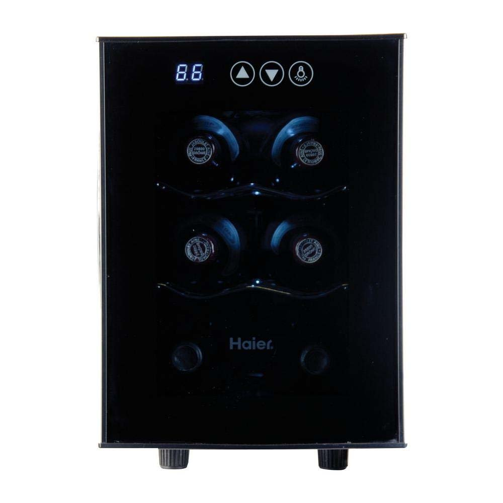 Haier HVTEC06ABS Wine & Beverage Center, Small, Black