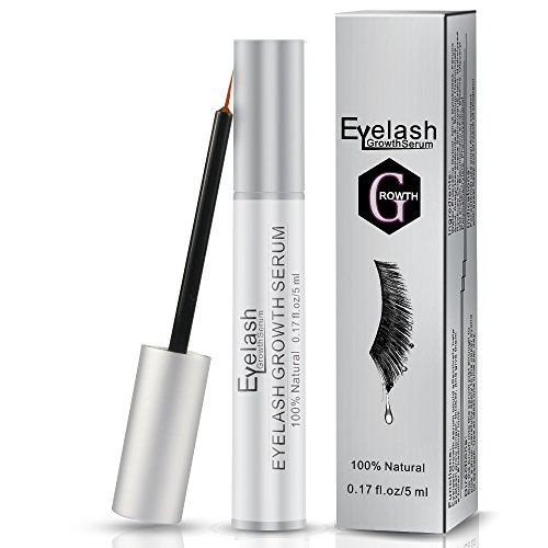 Eyelash Growth Serum, Herwiss Natural Lash & Brow Enhancer Serum, Eye Lash Booster Enhancing Formula for Longer, Thicker Eyelashes and Fuller Eyebrows, FDA Approved - 5ML by Herwiss