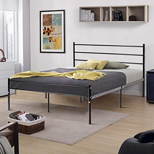 Giantex Reinforced Metal Bed Frame Full Size, Double Bed Platform w/Steel Slats, 10 Legs for More Stable, Box Spring Replacement w/Headboard & Footboard, Mattress Foundation Bedroom for Adults Kids