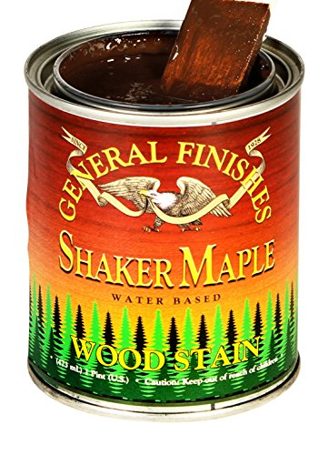 - General Finishes WMPT Water Based Wood Stain, 1 Pint, Shaker Maple