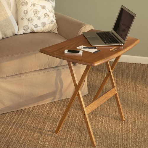 Manchester Wood Portable Folding Work and Laptop Desk - Golden Oak by Manchester Wood: American Made Furniture (Image #2)