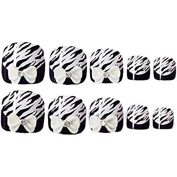 2 Box Bowknot Black False Toenails Fake Nails Artificial Nails Tips for Summer