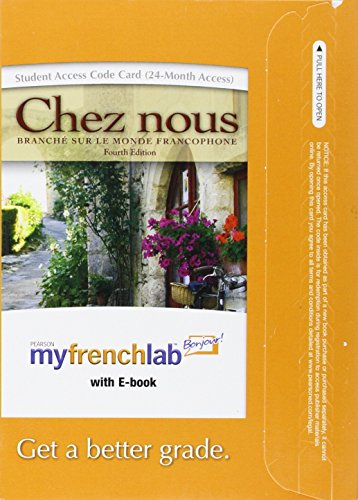 Chez Nous MyFrenchLab Access Code Card: With E-Book