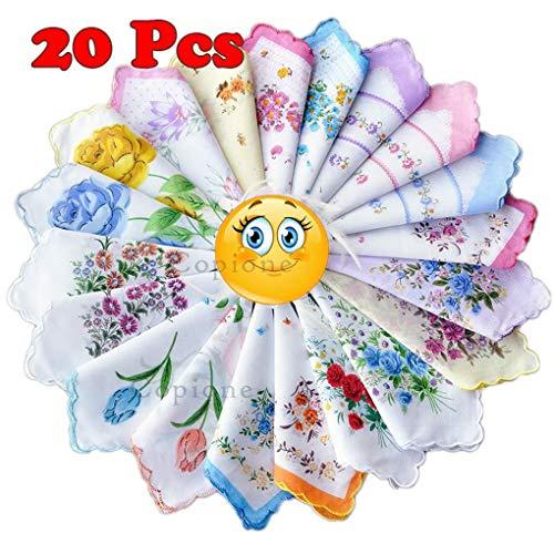 20pcs Mouchoirs Dames Avec Fleurs Windy5 À Coton 30x30cm Imprimé Pour Fleuri La Main Serviette En 6waZndqfB