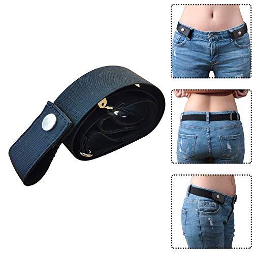 Buckle Free Belt Womens Men Waist Stretchy Elastic Adjustable Jeans Waistband UK
