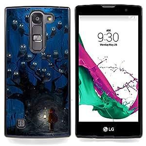 """Búho azul acuarela de la noche"""" - Metal de aluminio y de plástico duro Caja del teléfono - Negro - LG Magna / G4C / H525N H522Y H520N H502F H500F (G4 MINI,NOT FOR LG G4)"""