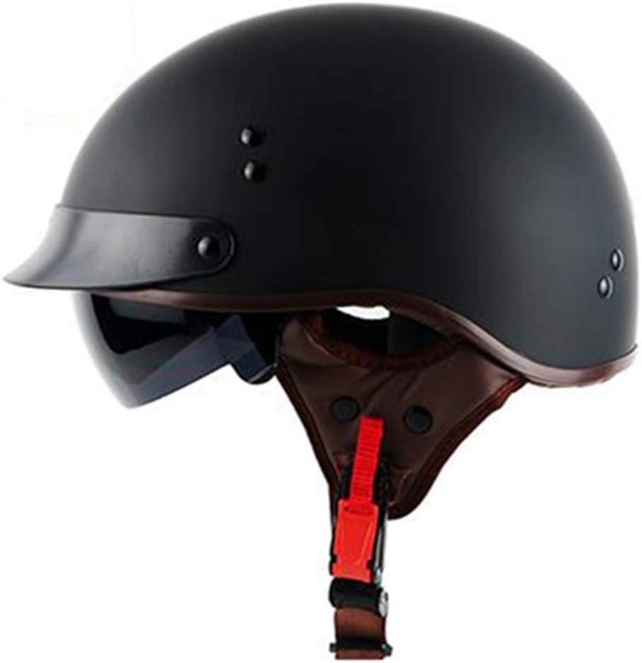 Helm Regenschutz mit Brille CARACHOME Downhill Helm Retro Helm f/ür M/änner und Frauen Geeignet Scooter Bike Motorrad Motocross Cruiser CS Game,A,XL