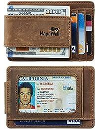 Genuine Magnetic Napa Leather Front Pocket Money Clip...