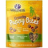 Wellness Crunchy Puppy Bites Natural Grain Free Puppy Training Treats, Chicken & Carrots, 6-Ounce Bag