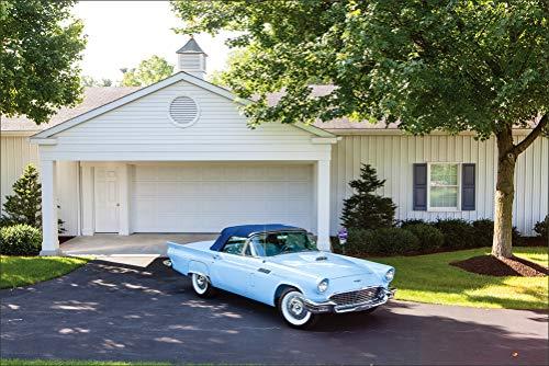 Retro Ford 1957 Thunderbird F-Code Special Supercharged Light Blue Metallic Cars Wall Art, Pop Art, Poster, Art Prints   Rare Posters