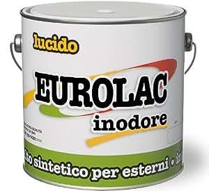 Brillante de color sintético esmalte Inodoro Eurolac Laiv Terracota 0375 Lt.