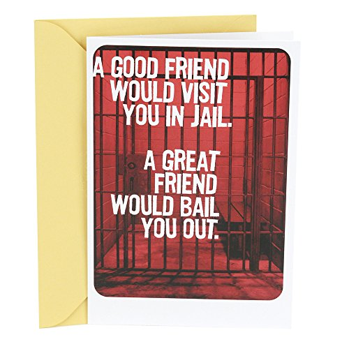 Hallmark Shoebox Birthday Card for Friend (Friend In Jail) (Cute Birthday Cards For Best Friend)
