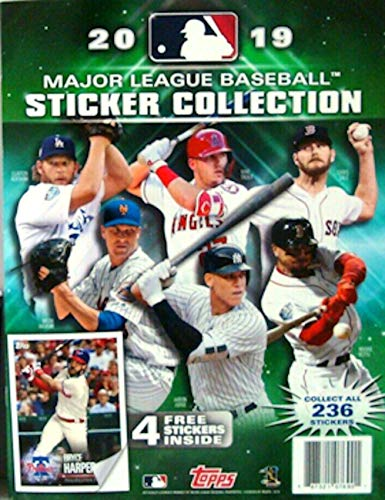 - 2019 Topps MLB Baseball Sticker Album (includes 4 starter stickers)