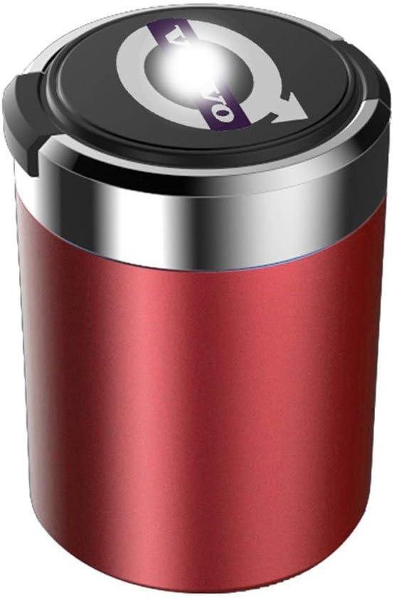 Color : A Cendrier Cendrier De Voiture Bleu LED Cendrier Sans Fum/ée L/éger Facile /À Nettoyer Doublure M/étallique Amovible For /Étiquette Sp/éciale De Voiture Volvo