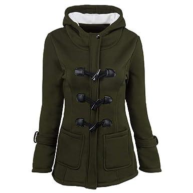 Jacke Damen Herbst Winter Langarm Mantel Mit Kapuze Elegante