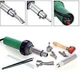 1500w Hot Air Torch Plastic Welding Gun Welder Pistol + 2 High Speed Nozzles +He Roller + PVC Pe Rods