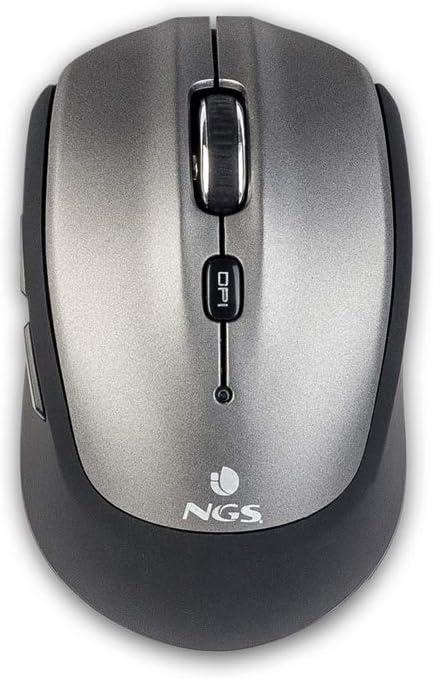NGS Frizz BT - Raton inalámbrico Bluetooth con Sensor óptico, Color Gris