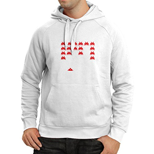 lepni.me Hoodie Vintage pc Maniacs Funny Gamer Gifts Funny Gamer Shirts (Small White Red)