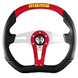 Momo TRK35BK0R Trek Red 350 mm Leather Steering Wheel