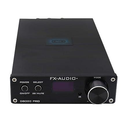 FX Audio D802C Pro APTX NFC USB inalámbrico AUX Coaxial óptico Amplificador Digital Bluetooth (Negro
