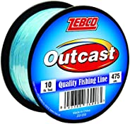 Zebco Outcast Mono 10LB 475 YD