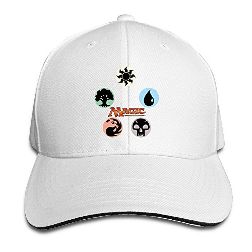 sunny-fish6hh-unisex-adjustable-magic-the-gathering-logo-baseball-caps-hat-one-size-white