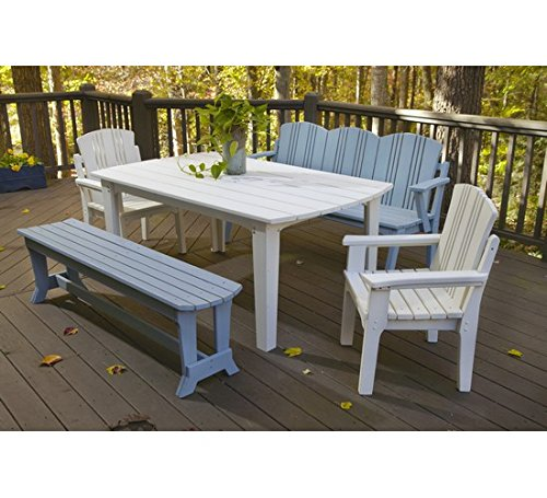(Uwharrie Chair Co C074-19-Hunter-Dist-Pine Carolina Preserves 4-Seat Bench with Back, Hunter-Distressed)