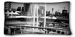 Custom City Soft Pillow Case Cover 20*36 Inch (One Sides)Zippered Pillowcase suitable for King-bed