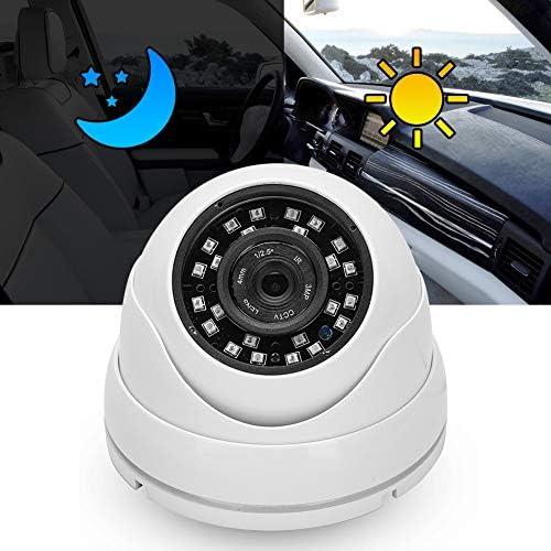 KIMISSバスAHDカメラ、1080PドームカメラIRカメラAHD屋外PALシステム24LEDs車のバスキャビンのための防水デイナイトビジョン(白)