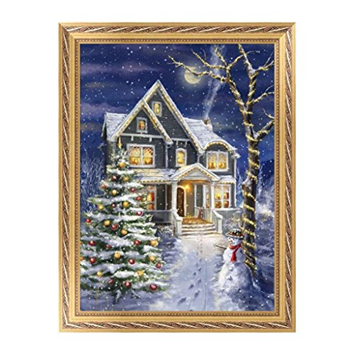 Arich 5D DIY Christmas Night Diamond Embroidery Painting Cross Stitch Craft Home Decor