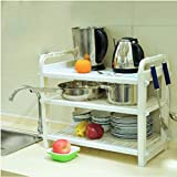 Hyun times Microwave Shelves Kitchen Supplies Pot Spatula Shelves Multi - Functional Rice Cooker Shelves Kitchen Appliances
