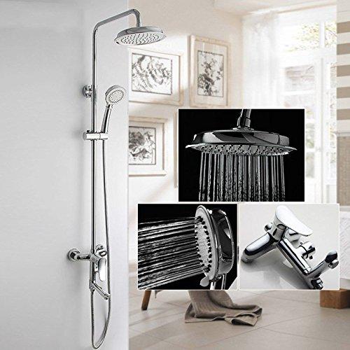 ANNTYE Waschtischarmatur Bad Mischbatterie Badarmatur Waschbecken Regendusche Set Warmes und kaltes Wasser Messing mit Dusche Badezimmer Waschtischmischer