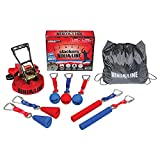 b4Adventure Slackers Ninjaline Pro Combo Kit with 7 obstacles Red/Blue, 30 Feet