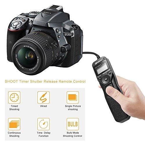 GHYC 촬영 디지털 인터벌 타이머 타이머 리모컨 니콘 D3100 D3200 D3300 D5000 D5100 D5200 D5300 D5500 D90 D7000 D7100 D7200 D600 D610 D750/GHYC Shoot Digital Intervalometer Timer Remote Control for Nikon D3100 D3200 D3300 D5000 D5100 D...