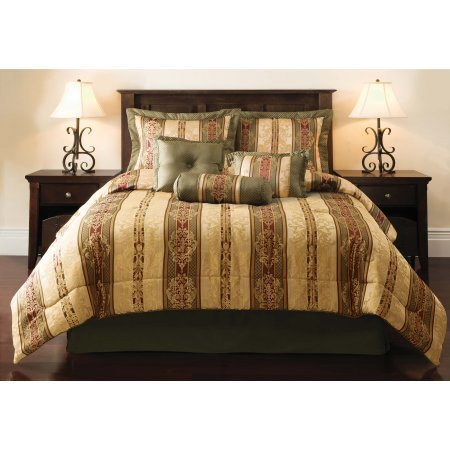 Mainstays Dakota 7 Piece Comforter Set, King