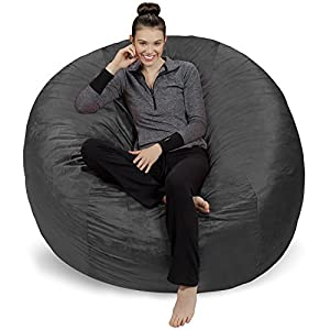 Sofa Sack – Plush Ultra Soft Bean Bags Chairs for Kids, Teens, Adults – Memory Foam Beanless Bag Chair with Microsuede…