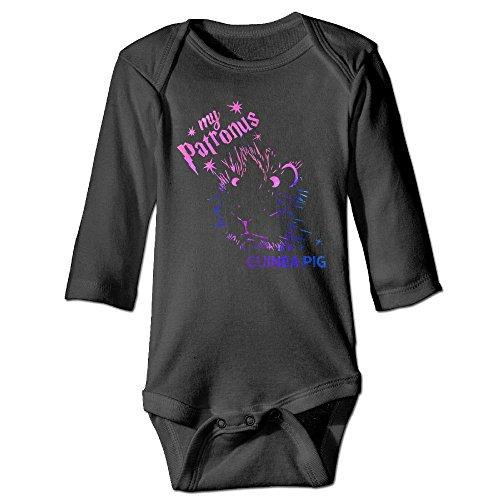 ZUIAI BABA My Patronus Is A Guinea Pig Vintage Unisex Baby Infant Long Sleeve Onesies Bodysuits Cotton
