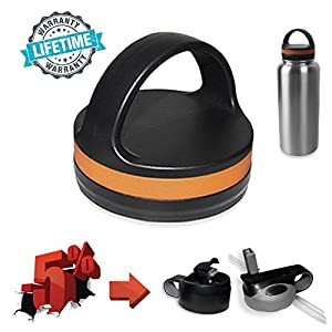Straw Lid For Hydro Flask - Flip Cap Fits Wide Mouth Insulated Sports Water Bottle, BPA Free, Top Lid